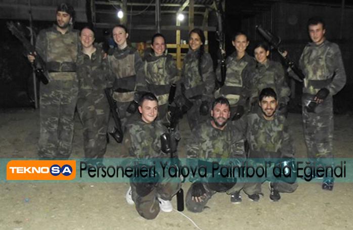 Teknosa Personelleri Yalova Paintbol'da Eğlendi.